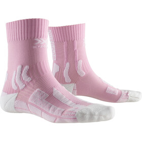 X-Socks Trek Outdoor Sokken Dames, flamingo pink/arctic white